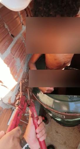 Menino no barril: sargento relata o que viu na casa da família