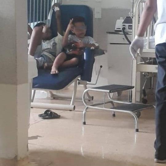 Homem conta que filho se aproximou de menino encontrado dentro de barril