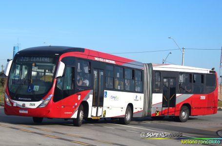 Ônibus articulados vão começar a circular nas linhas 265 e 265.1 a partir de segunda, dia 02/08